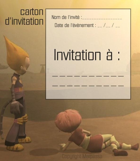 Tu n'as plus qu'à découper ton carton d'invitation !